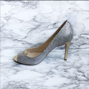 Enzo Angiolini Eamerryann Gold And Silver Heels